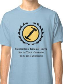The Simpsons - Stonecutters - Rules of Entry Classic T-Shirt