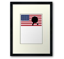 Table Tennis American Flag Framed Print
