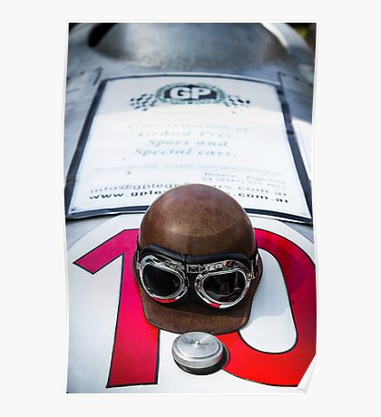 Vintage racer helmet Poster