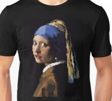 Pixel Tributes: The Girl With the Pearl Earring  Unisex T-Shirt