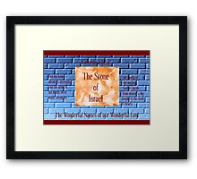 The Stone of Israel Framed Print