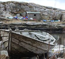 Abandoned boat by Harald Ole Hansen