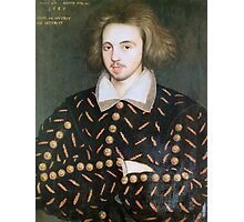 Portrait of nobleman, perhaps Christopher Marlowe Photographic Print