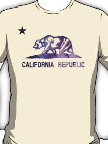 Purple California Bear Flag Nebula T-Shirt