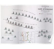 Plan of the Battle of Cape St. Vincent Poster