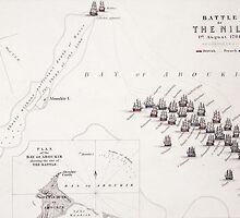 Plan of the Battle of the Nile by Bridgeman Art Library