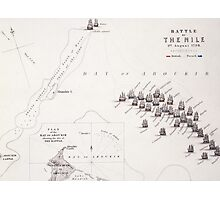 Plan of the Battle of the Nile Photographic Print