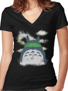 Son of the forest Women's Fitted V-Neck T-Shirt