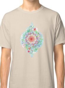 Messy Boho Floral in Rainbow Hues Classic T-Shirt