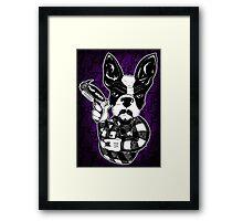 French Bulldog Gangster Framed Print
