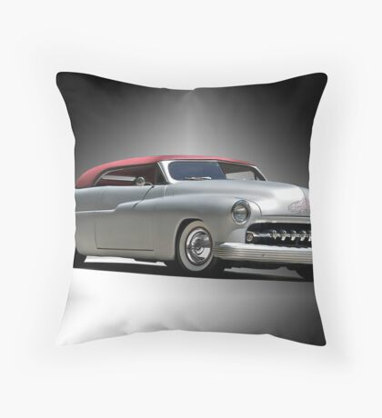 1950 Mercury with a Carson Top Throw Pillow