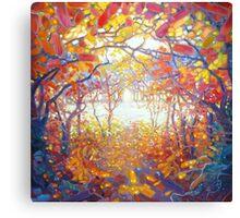 Clearing Through an Autumn Wood Canvas Print