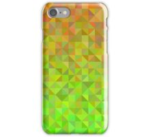 Abstract background from triangles in orange and green iPhone Case/Skin