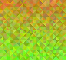 Abstract background from triangles in orange and green by amovitania