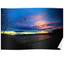 Late Fall Sunset Poster
