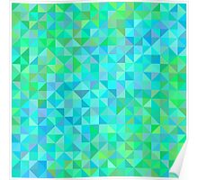Abstract background in shades of blue and green Poster