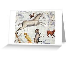 Constellation of Monoceros with Canis Major and Minor Greeting Card
