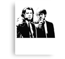 Pulp Fiction Black and White Canvas Print