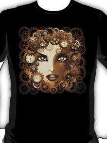 Steampunk Girl Portrait  T-Shirt