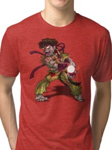 Zombie Ryu (Street Fighter) Tri-blend T-Shirt