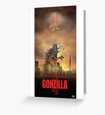 Gonzilla Greeting Card