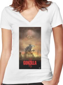 Gonzilla Women's Fitted V-Neck T-Shirt