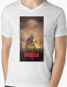 Gonzilla Mens V-Neck T-Shirt