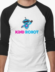Kind Robot Logo Men's Baseball ¾ T-Shirt