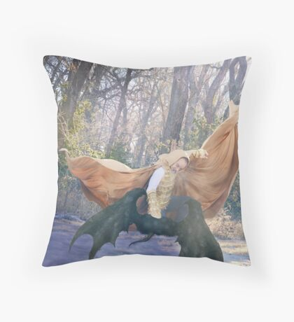 The Yellow Knight Throw Pillow