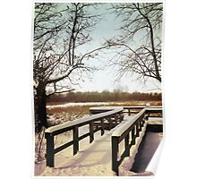 Wintertime At Sheldon Marsh - Overlook Poster