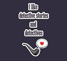 I like detectives Womens Fitted T-Shirt