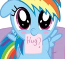 Rainbow Dash Hug Sticker