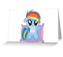 Rainbow Dash Hug Greeting Card