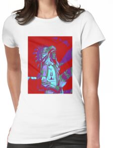 Indian Chief Pop Art Womens Fitted T-Shirt