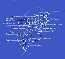 City Blueprints (Boston) by Angchor