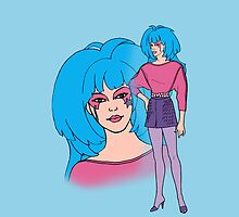 Jem and The Holograms - Aja #1 Blue - Tablet & Phone Cases by DGArt