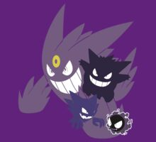 Gastly Evolutions by LadyTankStudios