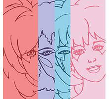 Jem and The Holograms - Group Striped - Tablet & Phone Cases by DGArt