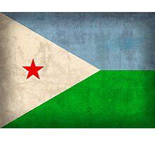 Djibouti Flag Photographic Print