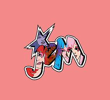 Jem and The Holograms - Logo #1 - Red - Tablet & Phone Cases by DGArt