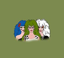 Jem and The Holograms -  The Misfits - Green - Tablet & Phone Cases by DGArt