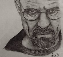 Walter White/Breaking Bad Pencil Drawing by Colin Bradley