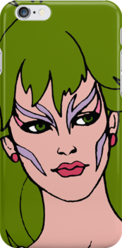 Jem and The Holograms - Pizzazz - Face - Tablet & Phone Cases by DGArt