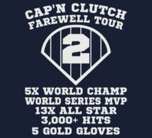 Derek Jeter NY Yankees Farewell Tour Captain Clutch Baseball Tshirt by xdurango