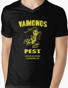 Distressed Vamonos Pest Mens V-Neck T-Shirt