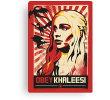 Obey Khaleesi Canvas Print
