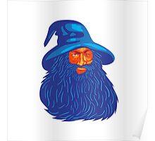 Norse God Odin Beard WPA Poster