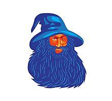 Norse God Odin Beard WPA Photographic Print