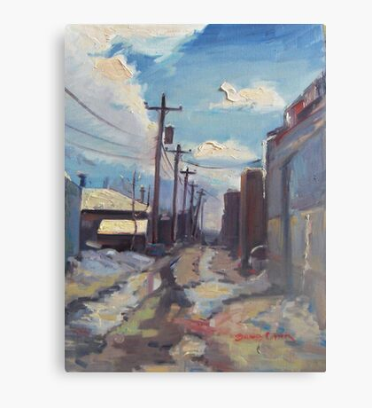Behind the City of Craig Canvas Print