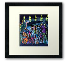 Let's dance tonight! The streetmusicians play in the big saloon under the bridge. Framed Print